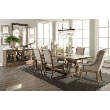 San Anselmo Traditional Style Dining Table Set
