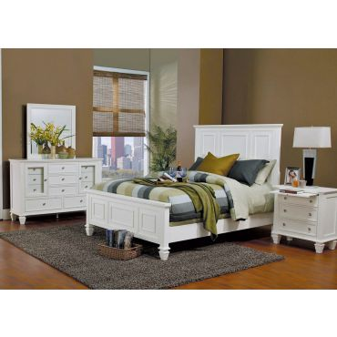 Sandy Beach White Finish Bedroom Set