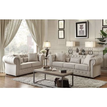 Savonburg Traditional Style Button Tufted Sofa