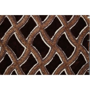 Shaggy Viscose Brown Rug Design 75