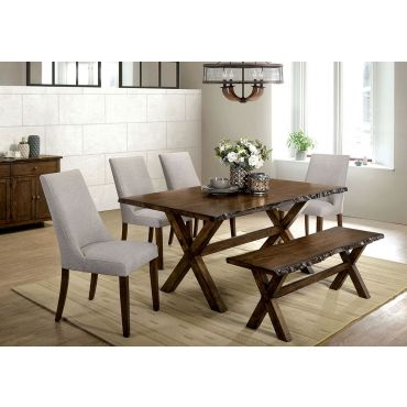 Sharon Rustic Finish Dining Table Set