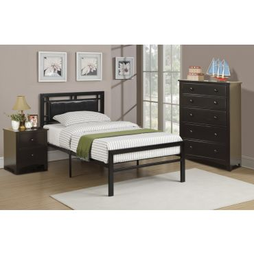 Sienna Black Modern Youth Bed