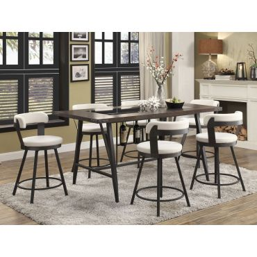 Incredible Luke Mid Century Modern Pub Table Set Cjindustries Chair Design For Home Cjindustriesco