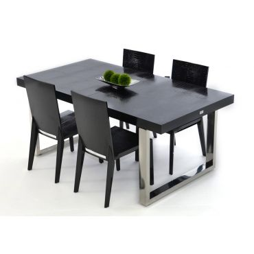 Skyline Black Lacquer Modern Dining Table