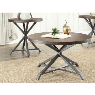 Sledo Industrial Style Coffee Table Set