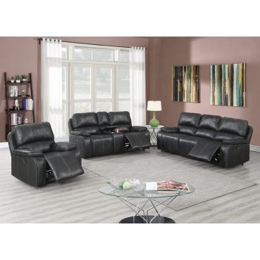 Snyder Black Recliner Sofa Set
