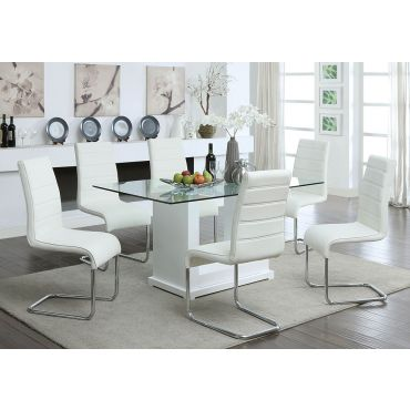 Solido Modern Dining Table White Lacquer