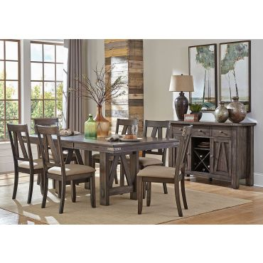 Sollie Industrial Style Formal Dining Table Set