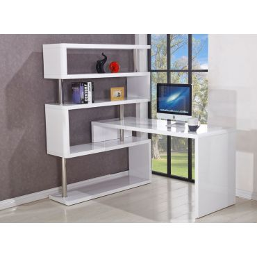 Somet Modern Corner Desk With Bookcase