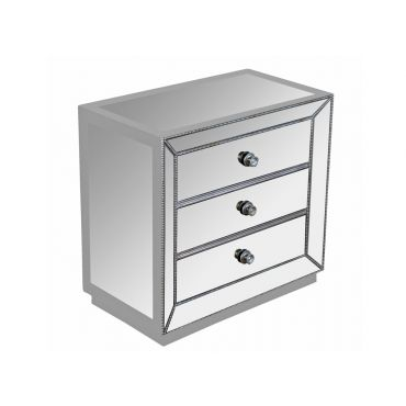 Sophia Mirrored Night Stand