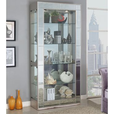 Sophie Mirrored Accent Curio Cabinet