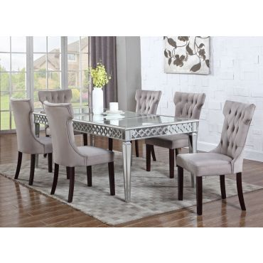 Sophie Mirrored Dining Table With Chairs