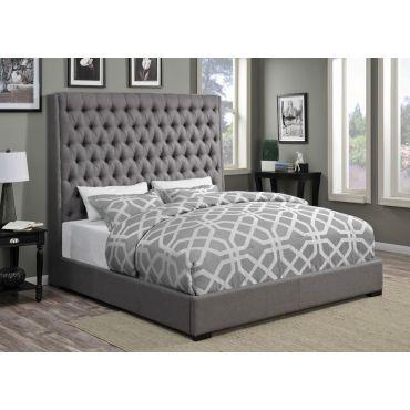 Soyler Upholstered Grey Fabric Bed