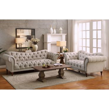 St Claire Traditional Tufted Sofa