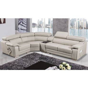 Stella Genuine Leather Modern Sectional