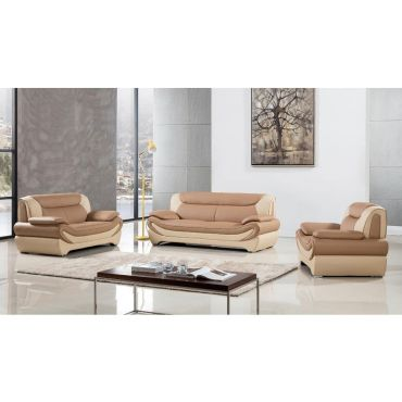 Sterling Modern Leather Sofa Set