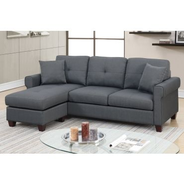 Stigall Reversible Sectional Sofa ,Stigall Grey Fabric Sectional