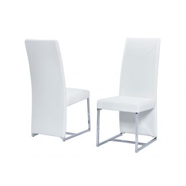 Stirling White Leather Dining Chair (Set of 2)