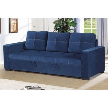 Stockton Blue Linen Sofa Bed