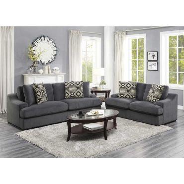 Strozza Grey Velvet Casual Sofa