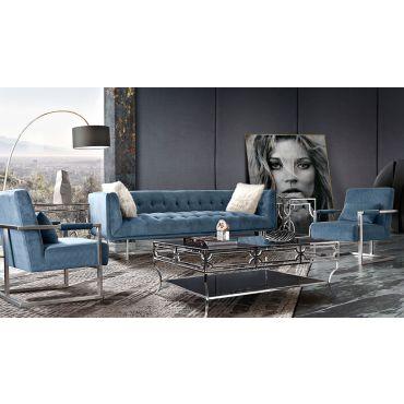 Studio Modern Sofa Royal Blue Velvet