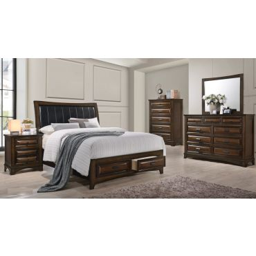Sunderland Transitional Bed With Drawers