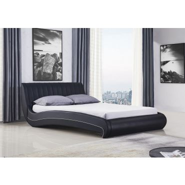 Sunset Modern Platform Leather Bed