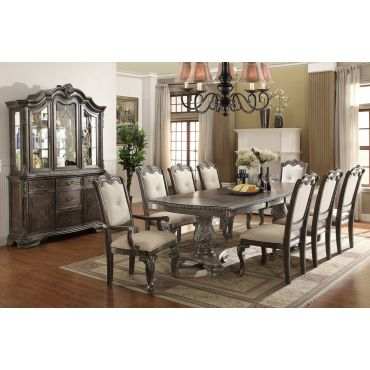 Tabitha Dining Table Set Rustic Grey Finish