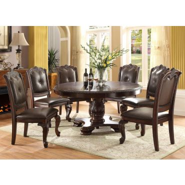 Tabitha Traditional Round Dining Table Set
