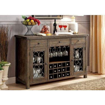 Tamilo Traditional Style Rustic Finish Server