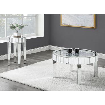 Tango Round Glass Top Coffee Table