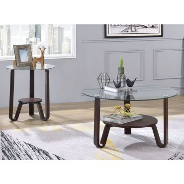 Tango Round Glass Top Coffee Table