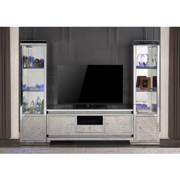 Tansy Mirrored TV Stand