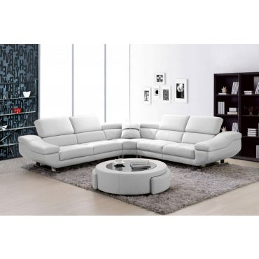Tara Cloud Leather Sectional Sofa