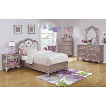Tatiana Silver Finish Bedroom Furniture
