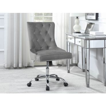 Terra Grey Velvet Office Chair