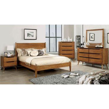 Terris Oak Finish Bedroom Furniture