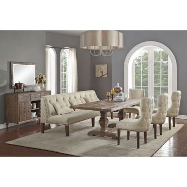 Teryn Rustic Finish Dining Room Table