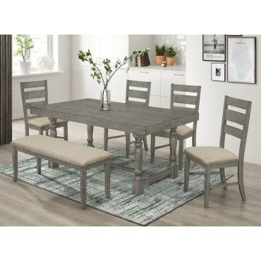 Teryn Rustic Grey Dining Room Table Set