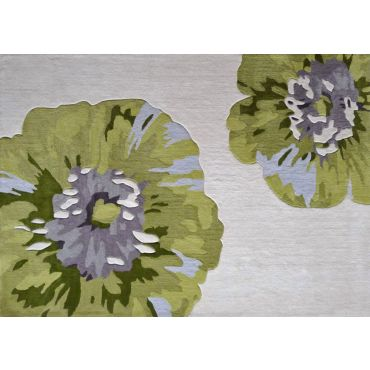 Modern Green Purple Rectangular Rug TF 35