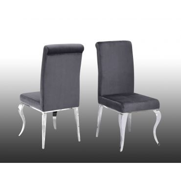 Theresa Grey Velvet Dining Chair