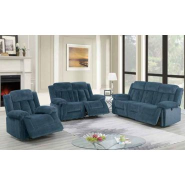 Tomas Blue Chenille Recliner Living Room
