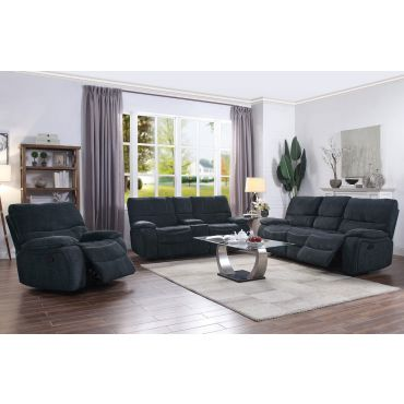 Tomas Navy Blue Chenille Recliner Living Room