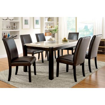 Amanda Marble Top Dining Table Set