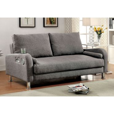 Tosha Grey Linen Sofa Sleeper