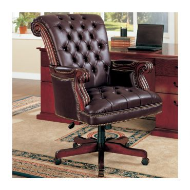 Sebastian Tufted Leather Office Chair