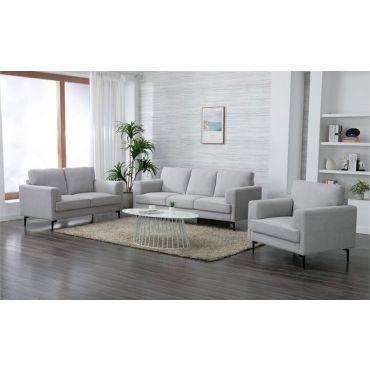 Trasey Modern Sofa Set Light Grey Linen