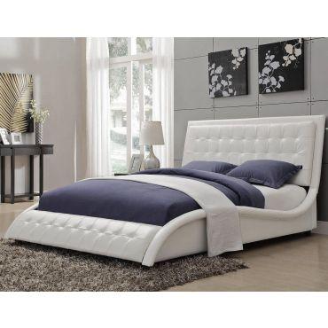 Talya Modern Platform Leather Bed