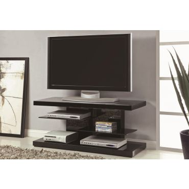Zeke Black Lacquer Finish TV Stand