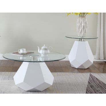 Tyra Modern Round Coffee Table,